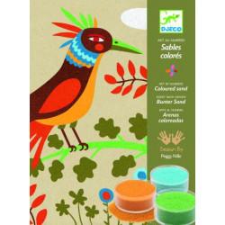 Sables colorés - oiseaux de paradis