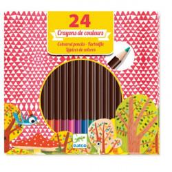 24 crayons de couleurs