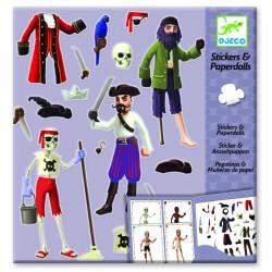 Stickers & paper dolls  - Les pirates
