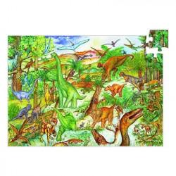 Puzzle avec poster - Dinosaures