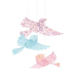 Légèretés à suspendre - oiseaux paillettes