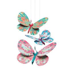 Légèretés à suspendre - papillons paillettes