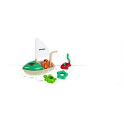 Jouet bain - Bateau pêche - Bois recyclé