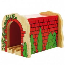 Tunnel briques - circuit train en bois