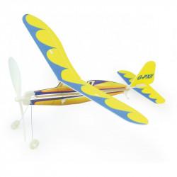 Avion à elastique jaune