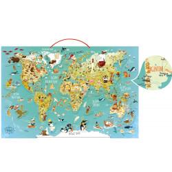 Carte du monde fantastique magnetique