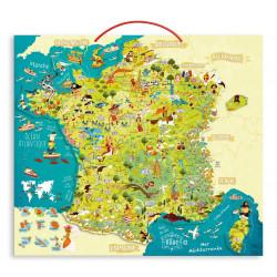 Carte des merveilles de France magnetique