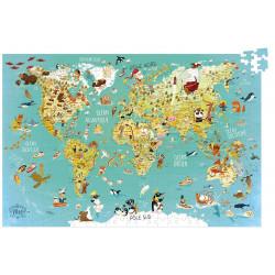 Puzzle carte du monde fantastique 500pcs - Vilac