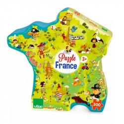 Puzzle carte des merveilles de France 300pcs - Vilac