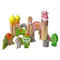 Blocs construction - grand château rose