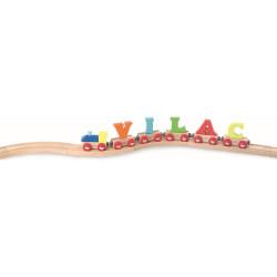 Locomotive pour wagon lettre en bois