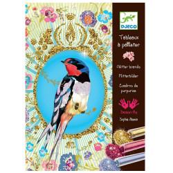 Sables et Paillettes - Oiseaux à pailettes