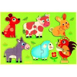 Puzzle bois - Coucou Cow