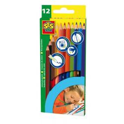 Crayons 12 couleurs