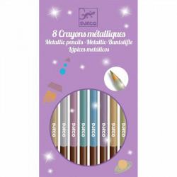 12 crayons métalliques de couleurs