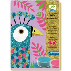 Créatif - Sables colores - éblouissants oiseaux -