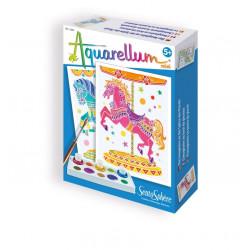 Aquarellum mini chevaux manège