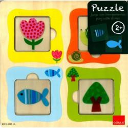 Puzzle escargot en tranparence