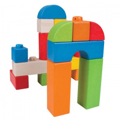 Click Blocks en bois - couleurs - 100 pcs