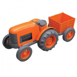 Tracteur orange - Plastique recyclé