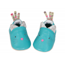 Chaussons cuir chat - Les Pachats
