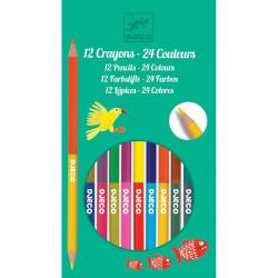 12 crayons doubles - 24 couleurs
