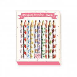 10 crayons de couleur