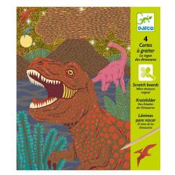 Cartes a gratter - Le règne des dinosaures