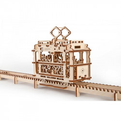 Maquette Ugears - Tram sur les rails