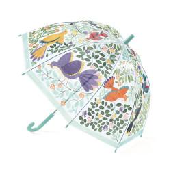 Parapluie - Fleurs et oiseaux