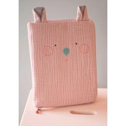 Protège carnet - Souris rose - Les jolis trop pas