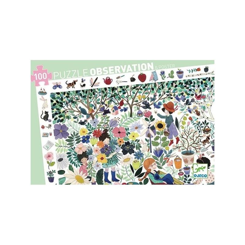Puzzle observation - 1000 Fleurs - 100 pcs