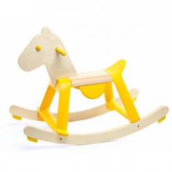 Cheval a bascule - yellow