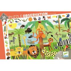 Puzzle observation - la jungle - 35 pcs