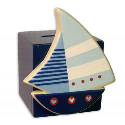 Tirelire cube bord de mer