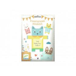 Cartes d invitation  - Doudou - 8 cartes