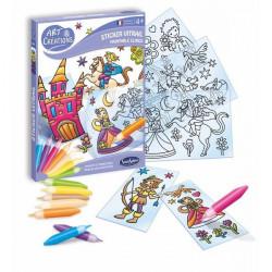 Art et creations-stickers-Vitrail-Petits Princes