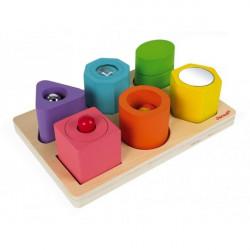 Puzzle 6 cubes sensoriels I Wood