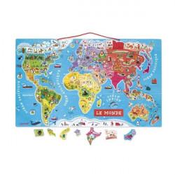 Puzzle magnetique - Monde