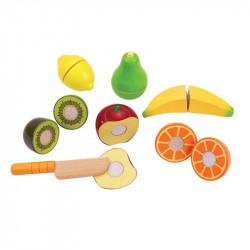 Fruits frais en bois