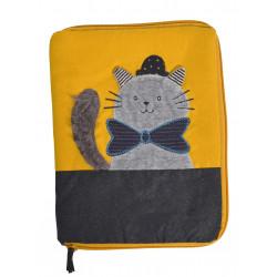Protège carnet de santé chat gris - Les Moustaches