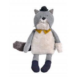 Poupée chat gris clair Fernand - Les Moustaches