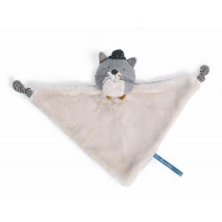 Doudou chat gris clair Fernand - Les Moustaches
