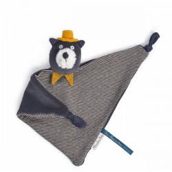 Doudou chat gris Alphonse - Les Moustaches