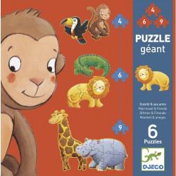 Puzzle géant - Ouistiti et ses amis 4-6-9 pièces
