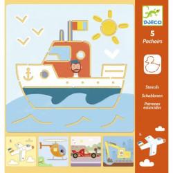 Pochoirs - Transports & Co