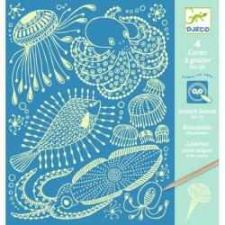 Cartes à gratter - Sea Life