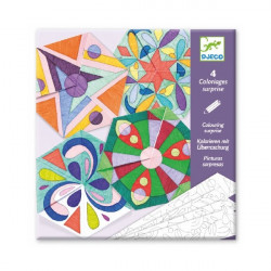Coloriages surprises - Mandala rosace