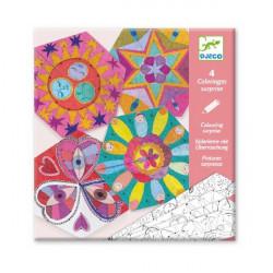 Coloriages surprises - Mandala constellation