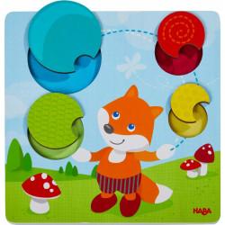 Puzzle tactile renard